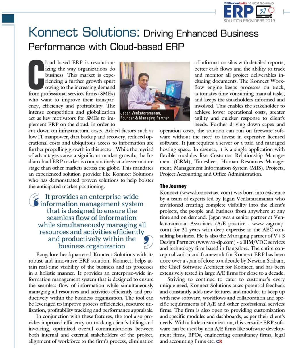 CIO Review India Honors Konnect